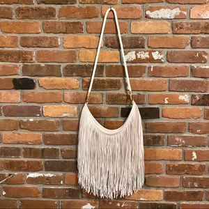 H&M Faux Leather Fringe Crossbody